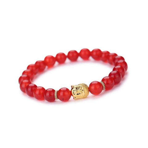 NLR Positive Vibes Buddha Bracelet - Red