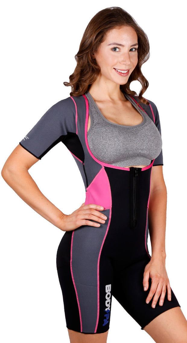 Body Spa Woman Sauna Suit for Weight Loss Open Chest and Arm Control Eco Friendly 1