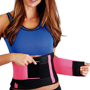 Body Spa Workout Belt Waist Trainer with Neoprene Sweat Lining