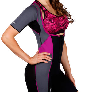 Body Spa Woman Sauna Suit for Weight Loss Open Chest and Arm Control Eco Friendly