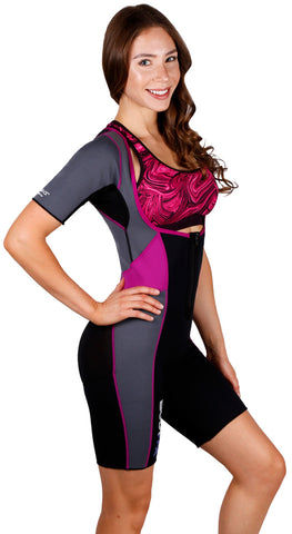 Body Spa Woman Sauna Sweat Hot Suit for Weight Loss Open Chest and Arm Control Eco Friendly