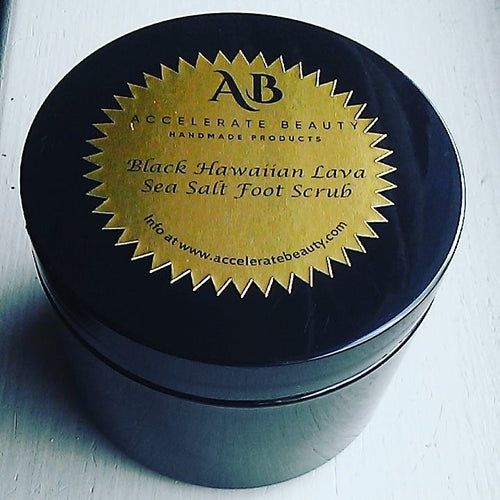 accelerate beauty black foot scrub