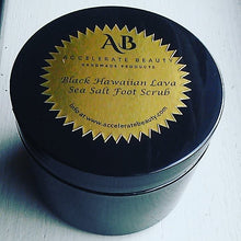 black hawaiian lava sea salt foot scrub