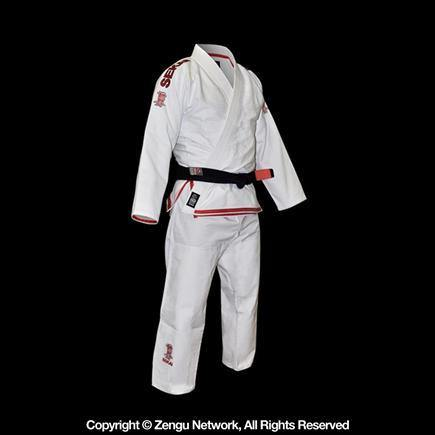 Fuji Sekai Jiu Jitsu Gi - Red Highlights