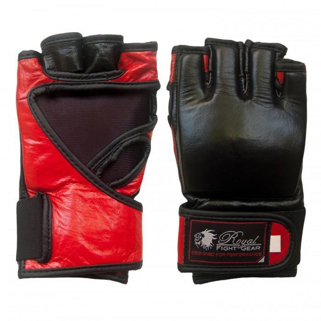 BOLD LOOK RFG THUMBLESS MMA LEATHER GLOVES-1