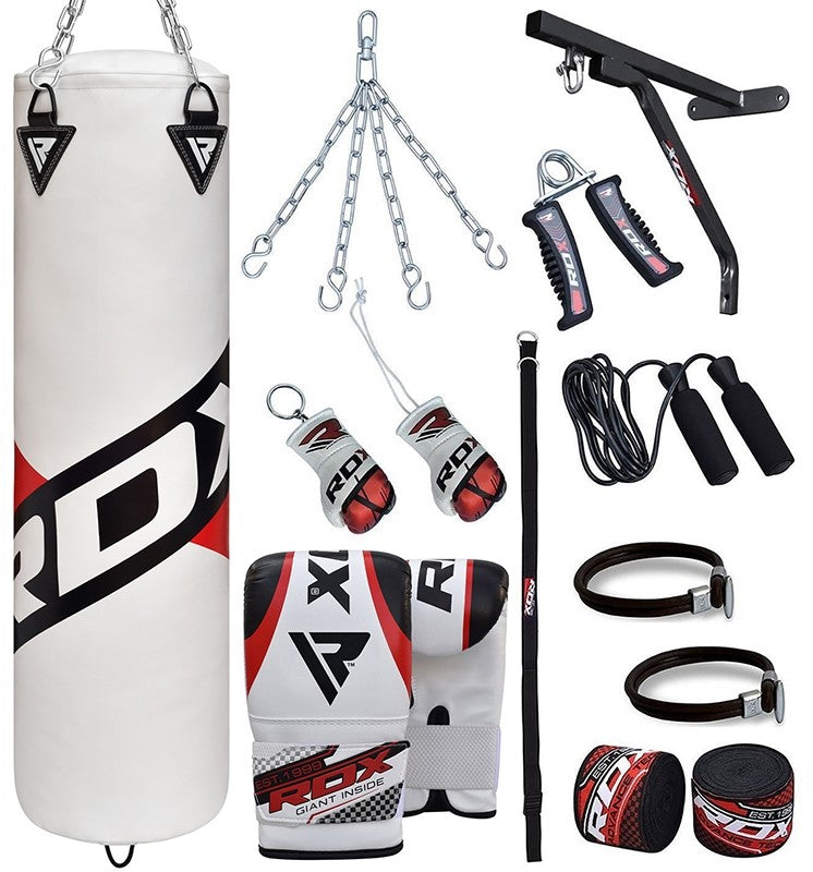 RDX F10 17 PC FILLED PUNCH BAG WITH BAG MITTS-`1