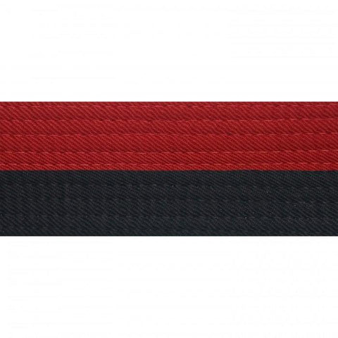 "BOLD LOOK 2"" HALF RED WITH HALF BLACK POOM BELTS"