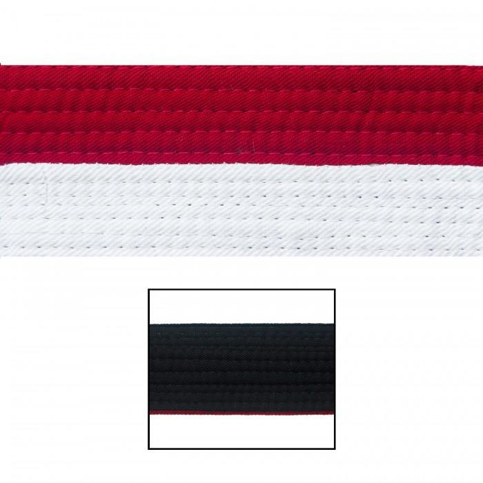 "BOLD LOOK 2"" WHITE/RED/BLACK RENSHI BELTS"