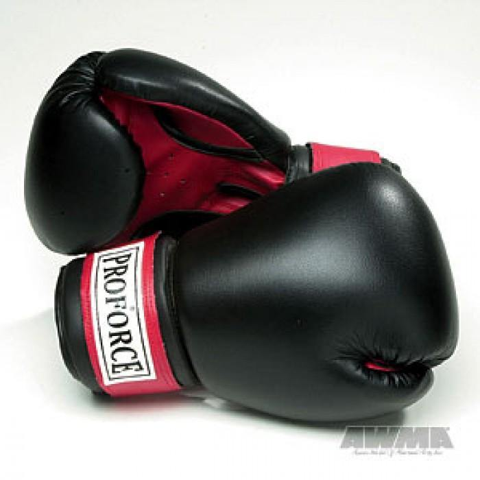 BOLD LOOK PROFORCE® LEATHERETTE BOXING GLOVES W/RED PALM-1