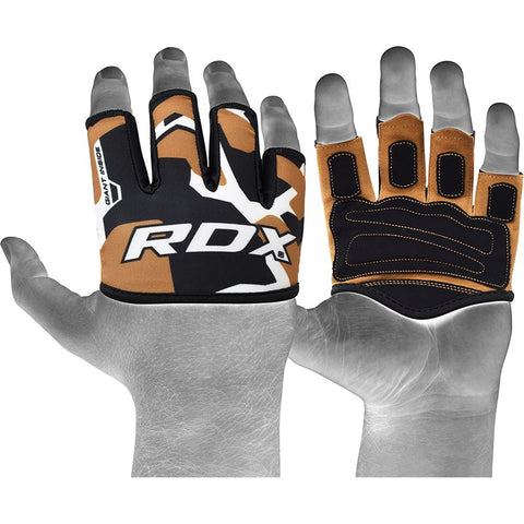 RDX 4T Tan Weight Lifting Grips