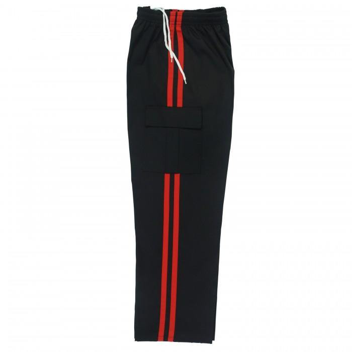 Black with 1 Red Stripe KICKBOXING MMA TROUSERS Super Price Great Quality