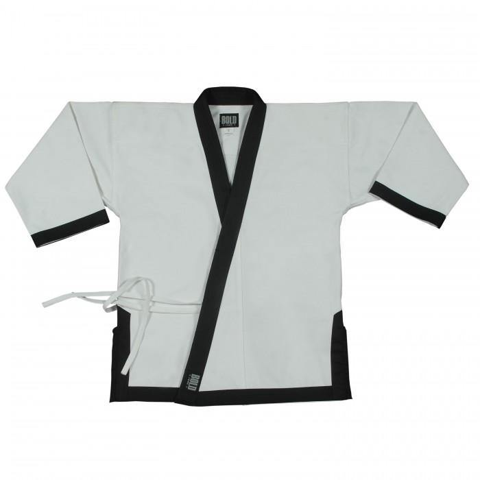 BOLD LOOK 8.5OZ SUPER MIDDLEWEIGHT TOPS WITH FULL TRIM-WHITE WITH BALCK TRIM-1