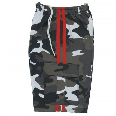 BOLD LOOK BFIT 7.5OZ CARGO PANTS-WHITE CAMO/RED STRIPE-1