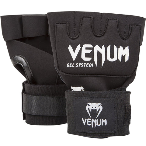 "TITLE-Venum-""Kontact"" Gel Glove Wraps - Black-1"