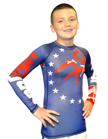 FUJI SPORTS KIDS USA JUDO RASHGUARD-1