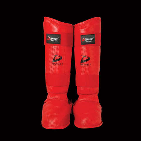DYNAMICS-CHAMPION KARATE SHIN-INSTEP-RED