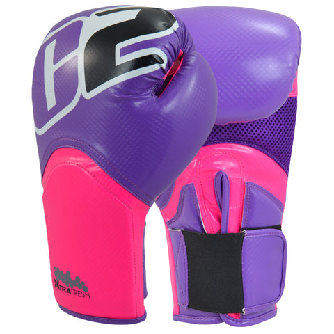 Combat Corner C2 Turbo Boxing Gloves Pink/Purple-1