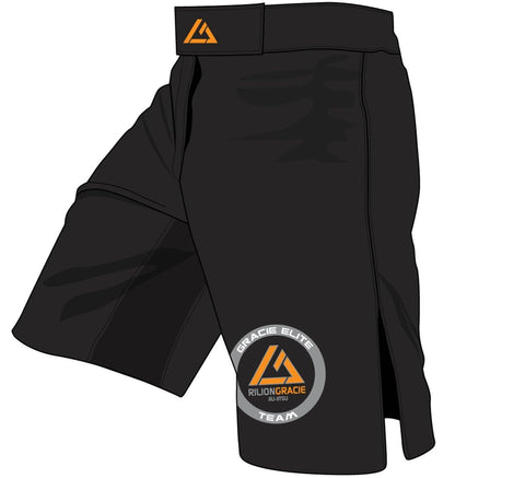 Rilion Gracie Black Fight Shorts