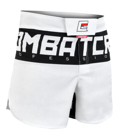 Combat Corner Supreme Hybrid Fight Shorts (White)-1