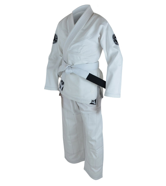 Combat Corner YoungStar Youth Brazilian Jiu Jitsu Form2 GI – FREE WHITE BELT-WHITE-1