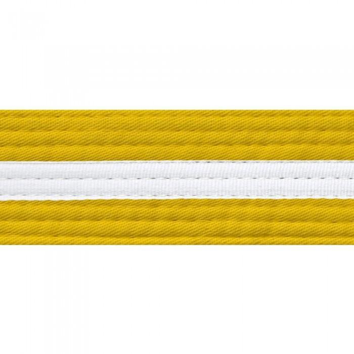 BOLD LOOK BELTS WITH WHITE STRIPE-YELLOW/WHITE STRIPE-1