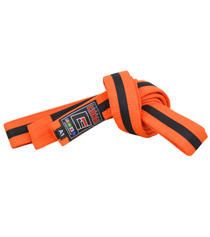 Combat Corner BJJ Belt Orange/Black