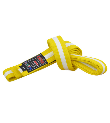 Combat Corner BJJ Belt Yellow/White