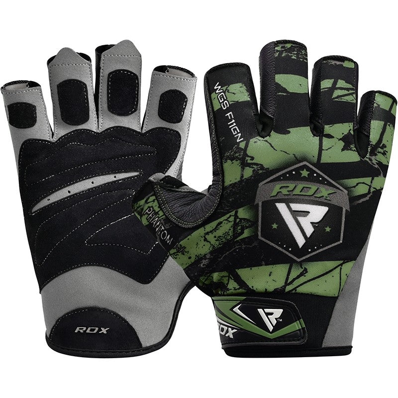 RDX F11 BODYBUILDING GYM GLOVES/Gre-1