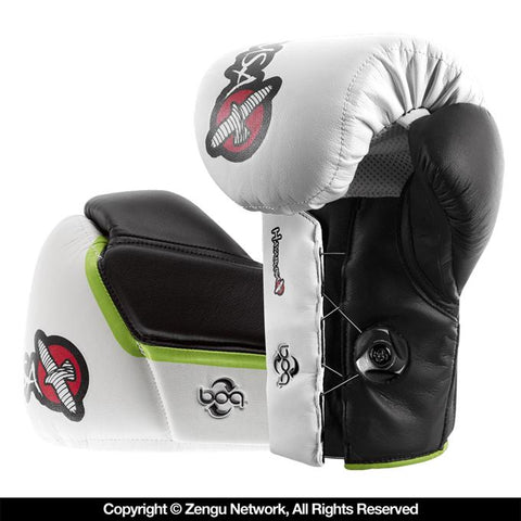 Hayabusa-Mirai Series Striking Gloves (White/Black)-1