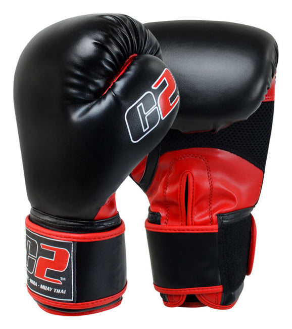 Combat Corner C2 Boxing Gloves w/ XtraFresh Blk/Red-1