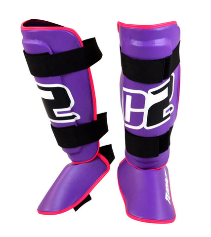 Combat Corner C2 Turbo Shin Guards Purple-1