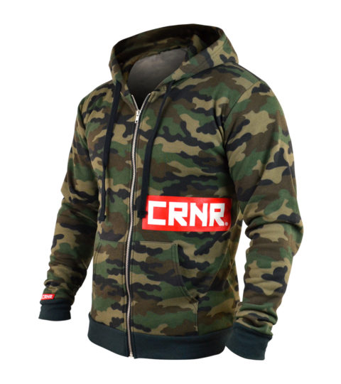 Combat Corner Zip Up Camo Redtangle Hoodie-1