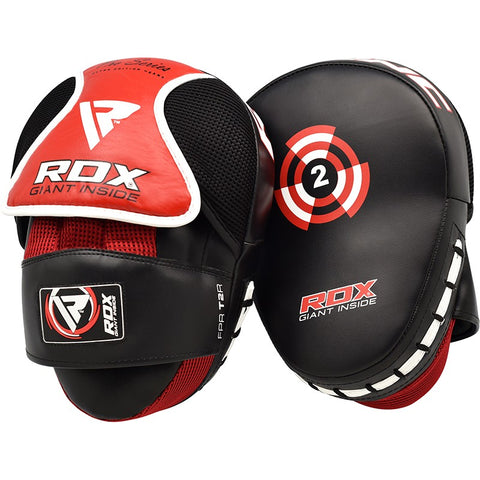 RDX T2 RED CAVAR CURVED BOXING PADS-1