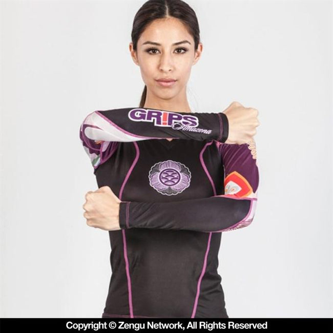 Grips Athletics-Power Flower Ladies-Rashguard-1