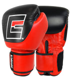 Combat Corner Competition Velcro Boxing Gloves Red-1