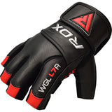 RDX L7 CROWN WEIGHTLIFTING LEATHER GYM GLOVES-6