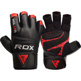 RDX L7 CROWN WEIGHTLIFTING LEATHER GYM GLOVES-10