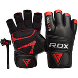 RDX L7 CROWN WEIGHTLIFTING LEATHER GYM GLOVES-1
