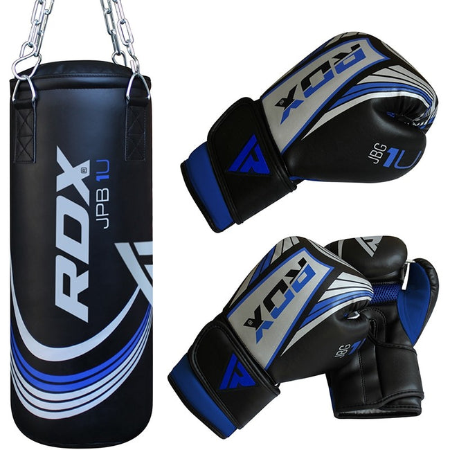 RDX X1U FILLED DEMO PUNCH BAG & GLOVES-1
