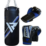 RDX X1U FILLED DEMO PUNCH BAG & GLOVES-5