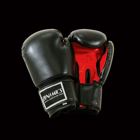 DYNAMICS ELITE BLACK BOXING GLOVES-Black/Red