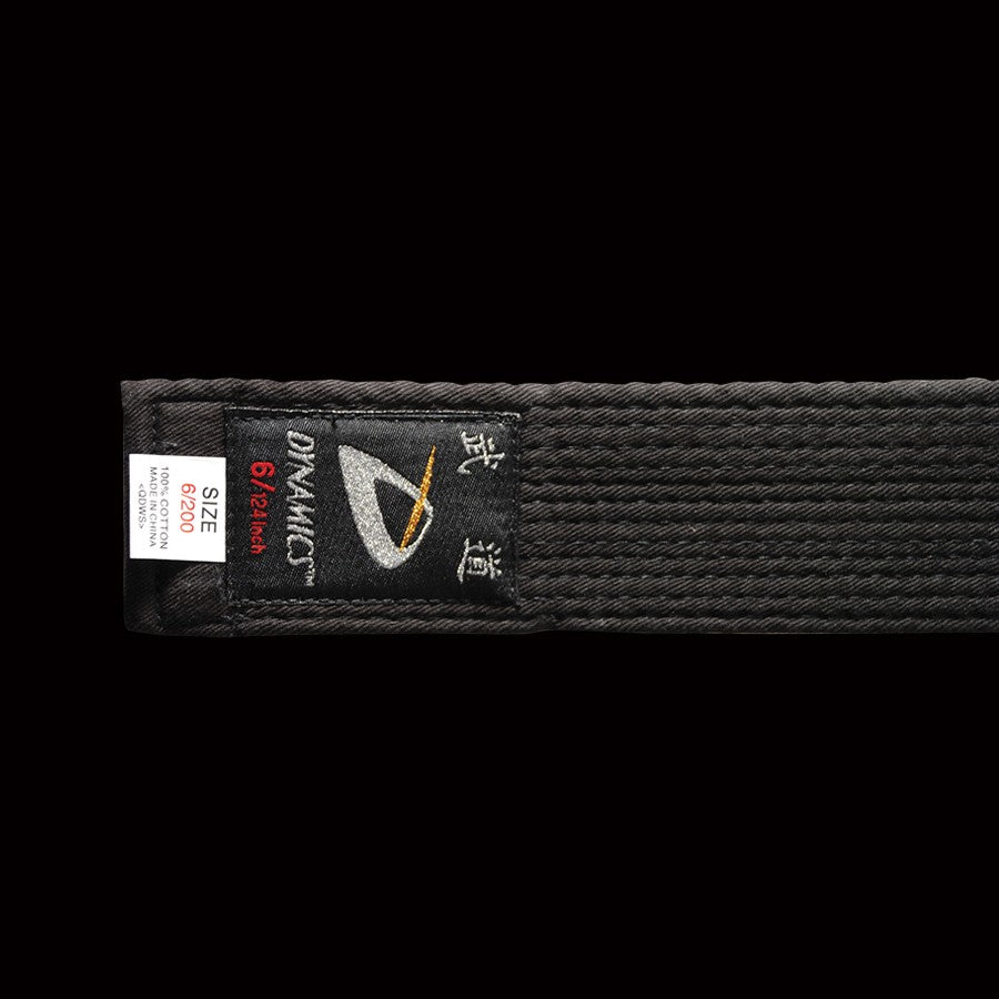 "DYNAMICS MOODO 2"" WIDE BLACK BELT"