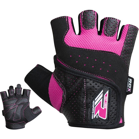 RDX S5 FEMININE PINK WEIGHT LIFTING GLOVES-1