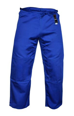 FUJI Double Weave Judo Pants-Blue-1