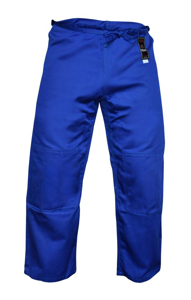 FUJI Single Weave Judo Pants-Blue-1