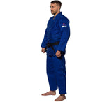 FUJI Single Weave Judo Gi-Blue-3