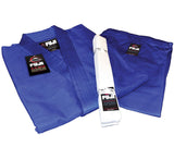 FUJI Single Weave Judo Gi-Blue-4
