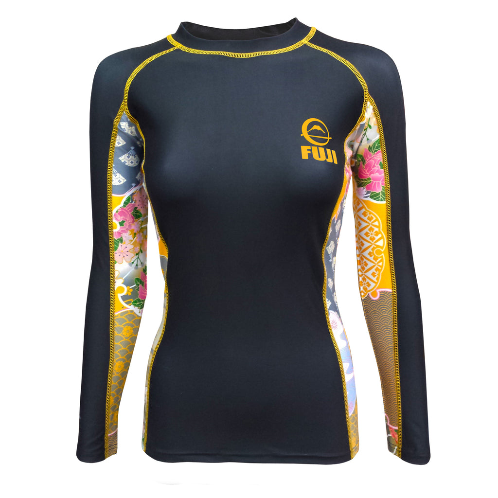 FUJI SPORTS WOMEN'S KIMONO RASH GUARD-Black-1