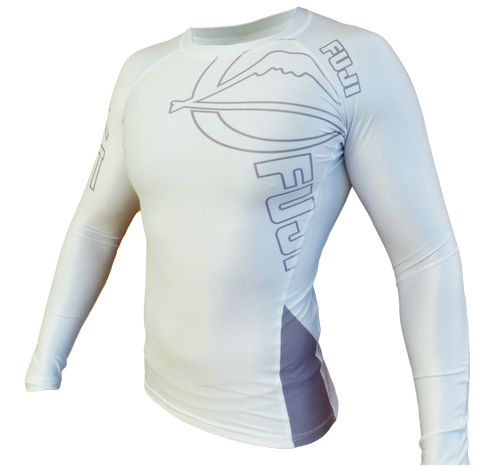FUJI Inverted Long Sleeve Rashguard-White-1