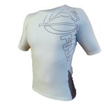 FUJI Inverted Short Sleeve Rashguard-White-1